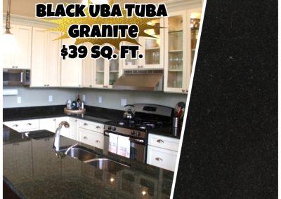 Black Uba Tuba Granite ($39)