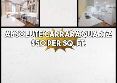 Quartz-Absolute Carrara ($50)